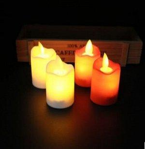 Светодиодная свеча. р-р 4*7 см