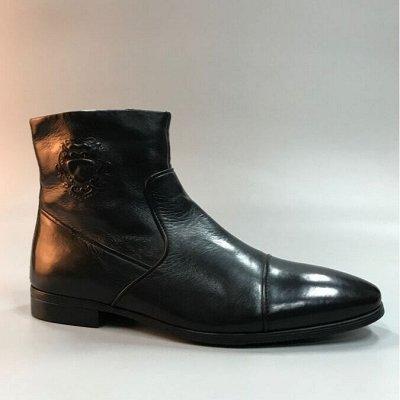 Обувь для мужчин и женщин плюс остатки склада. Наличие.   — Мужская обувь  из натуральной кожи — Ботинки