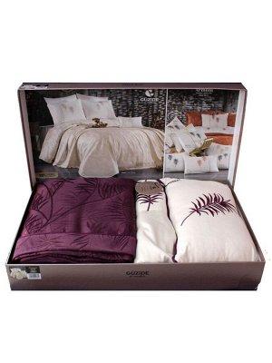 Покрывало с наволочками и с постельным бельем модель ARMONI цвет фиолетовый