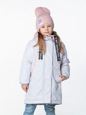 101002/2 (серый) Куртка для девочки