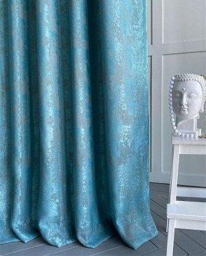 Комплект штор бирюзового оттенка   : 2 шторы по 150 см