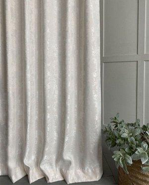 Комплект штор молочного оттенка : 2 шторы по 150 см