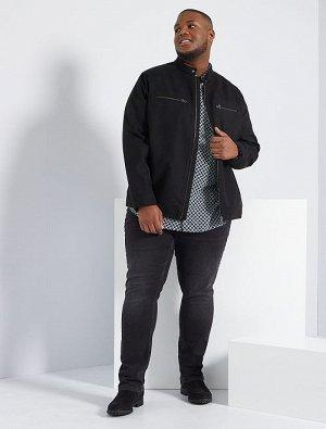 Байкерская куртка из искусственной замши
