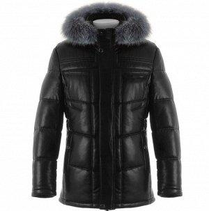 Мужская зимняя куртка из PU-кожи DC-2122