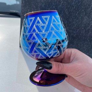 Набор бокалов Glasstar Лавандовый аметист Треугольники / 6 шт. 250 мл