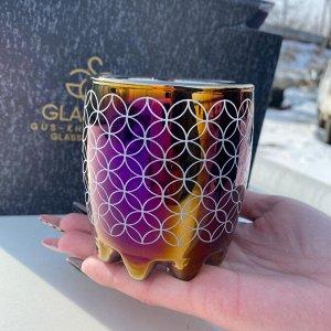 """Набор стаканов Glasstar """"Сильвана"""" Королевская фуксия Иллюзия / 6 шт. 315 мл"""