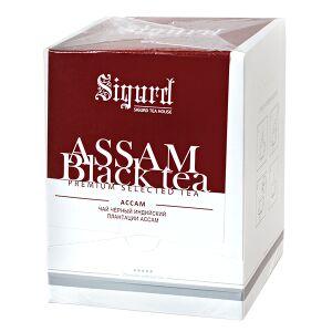 Чай чай SIGURD 'ASSAM BLACK' 20 пирамидок Чай черный байховый индийский среднелистовой, высший сорт, в пирамидках. Индийский чай Ассам высшего сорта в пирамидках для заваривания в чашке 250-300мл. Асс