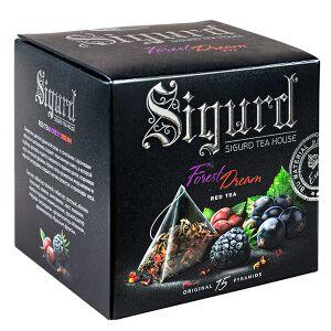 """Чай чай SIGURD 'FOREST DREAM' 15 пирамидок/саше-конверт Чайный напиток с добавками растительного сырья, ароматизированный, пакетированный """"Лесная мечта"""" 15 пирамидок в саше-конверте по 2 г..  Состав:"""