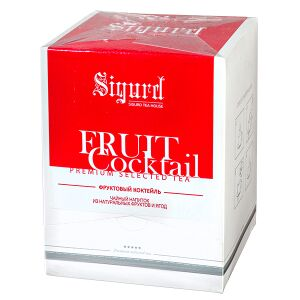 Чай чай SIGURD 'FRUIT COCTAIL' 20 пирамидок Чайный напиток ароматизированный из смеси растительного сырья пакетированный в пирамидках. Фруктовый чайный напиток на основе гибискуса, яблока, шиповника,