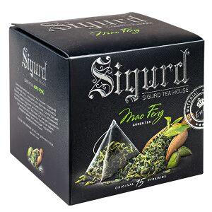 """Чай чай SIGURD 'MAO FENG' 15 пирамидок/саше-конверт Чай зеленый китайский крупнолистовой, высший сорт, пакетированный """"Маофенг"""" 15 пирамидок в саше-конверте по 1,7 г. Маофенг – это элегантный китайски"""