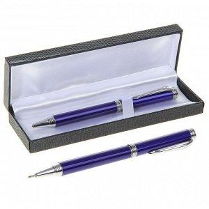 Ручка шариковая, подарочная, поворотная, в кожзам футляре, «Директор»