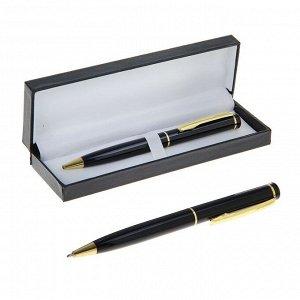 Ручка шариковая, подарочная, поворотная, в кожзам футляре, «Классика», со стразой
