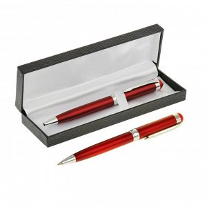 Ручка шариковая, подарочная, поворотная, в кожзам футляре, «Премьер»