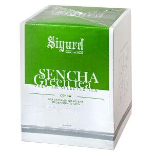 """Чай чай SIGURD 'SENCHA GREEN' 20 пирамидок Чай зеленый байховый китайский """"Сенча"""" пакетированный в пирамидках. Зеленый китайский листовой чай сенча, произведенный по японской технологии пропаривания,"""