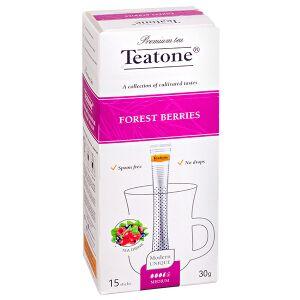 Чай чай TEATONE 'FOREST BERRIES' 15 стиков Чайный напиток ЛЕСНЫЕ ЯГОДЫ Teatone в стиках для разовой заварки. Натуральные ягоды это польза, которая говорит сама за себя. В этом чайном напитке прекрасны