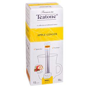 Чай чай TEATONE 'APPLE GINGER' 15 стиков Чайный напиток ЯБЛОКО-ИМБИРЬ Teatone в стиках для разовой заварки. Страстный чайный напиток для творчества, неспроста его придумали в овеянной легендами Персии