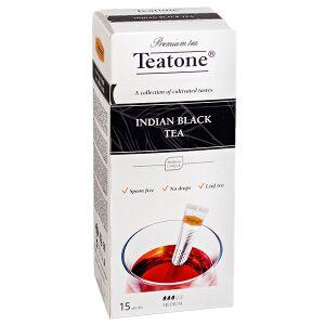 Чай чай TEATONE 'INDIAN BLACK' 15 стиков Чай черный индийский Teatone в стиках для разовой заварки. Изысканный чёрный чай, сохранивший природное совершенство верхних листочков, собранных вручную на вы