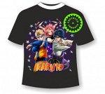 Подростковая футболка Наруто (Naruto) 1153 черная