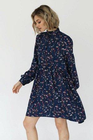 Платье мини из вискозы