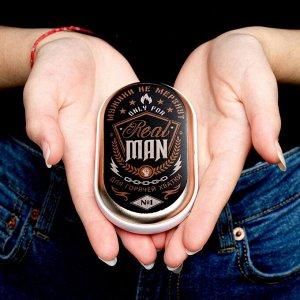 Портативный аккумулятор и грелка для рук Real man, 2500 mAh, 10,2 х 5,9 см