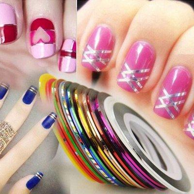 TNL Professional от официального поставщика. ПРОМО Акция🌸    — Нить цветная на клеевой основе для дизайна ногтей — Дизайн ногтей