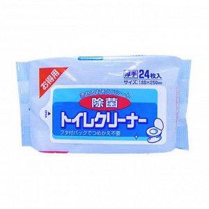 """4002024 """"Showa Siko"""" """"Toilet cleaner"""" Влажные салфетки для очищения унитаза 24шт 160ммх250мм 1/50"""
