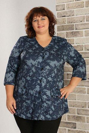 Блуза синий