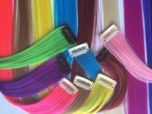 Локон Цена за 1 прядь.Прямые накладные цветные пряди на заколках, длина 50 см, на клипсе. Крепится с помощью клипсы. (БЕЗ ВЫБОРА ЦВЕТА.).