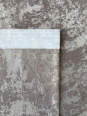 Комплект штор бежевого оттенка: 2 шторы по 150 см