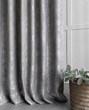 Комплект штор серого оттенка : 2 шторы по 150 см