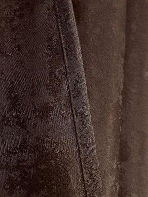 Комплект штор оттенка шоколад: 2 шторы по 150 см