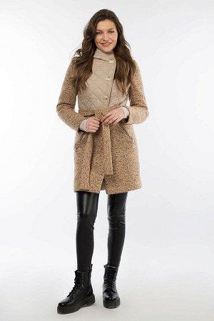 """Пальто женское утепленное (пояс) """"Amalgama"""""""