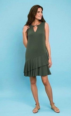 Платье летнее  зелёный (60334-2)