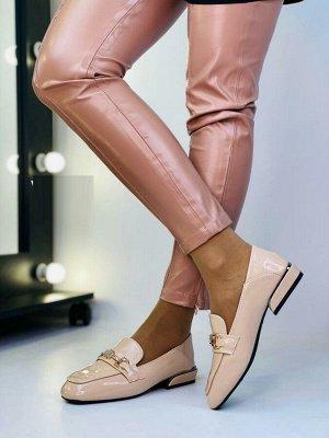 Туфли бронзового цвета на узкую ногу на 37-37,5