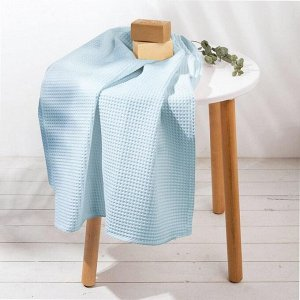 "Полотенце ""Голубой"" 70х150 см, 100% хлопок, ваф. полотно, 160 гр/м2"