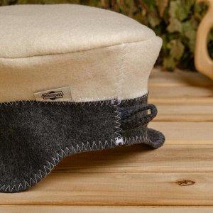 """Набор для бани """"Генерал"""" фуражка, коврик, рукавица"""