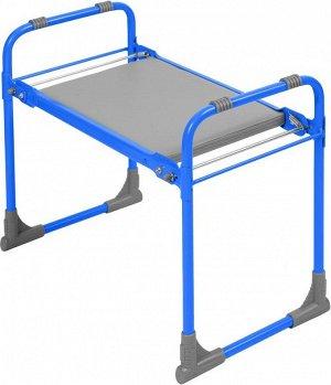 Скамейка садовая с мягким сиденьем СКМ (СКМ/Г голубой)