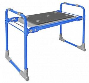 Скамейка садовая с мягким сиденьем СКМ2 (СКМ2/Г голубой)