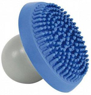 Щетка массажная с контейнером для шампуня натуральная резина 12,5*23*9см
