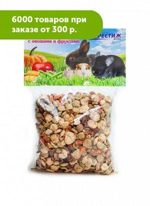 Лакомство для грызунов Плющенный горох с овощами и фруктами 100гр