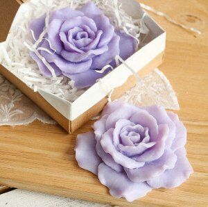 Сиреневая розочка - мыло ручной работы арт.milotto003557