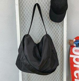 Сумка-баул спортивная, цвет черный