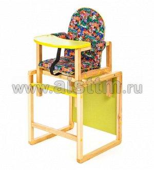 "Стол-стул для кормления ""Джунгли"" (зел.) СТД0309"
