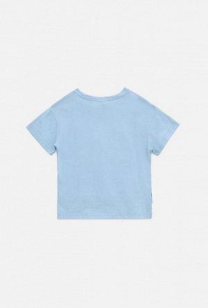 Футболка детская для девочек Kiparis серо-голубой