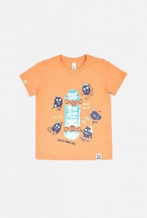 Футболка(Фуфайка) детская для мальчиков Jasmin оранжевый