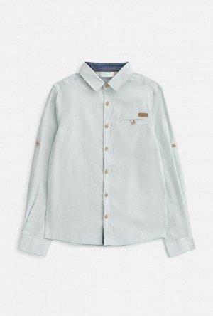 Сорочка верхняя детская для мальчиков Ponti голубой