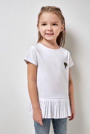 Футболка(Фуфайка) детская для девочек Rosignol белый