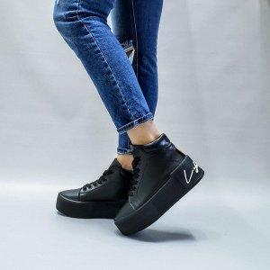 Черные кожаные ботинки COOL