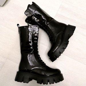 Ботинки МИЛИТАРИ-24 черный наплак