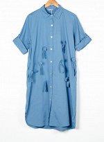 Женское платье рубашка на пуговицах 249001 размер 50 - 54